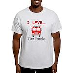 I Love Fire Trucks Light T-Shirt