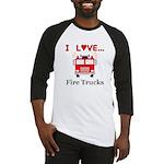 I Love Fire Trucks Baseball Jersey