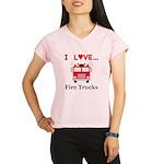 I Love Fire Trucks Performance Dry T-Shirt