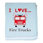 I Love Fire Trucks baby blanket