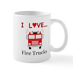 I Love Fire Trucks Mug
