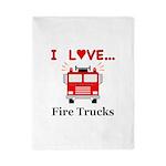 I Love Fire Trucks Twin Duvet