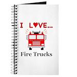 I Love Fire Trucks Journal