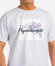 Physiotherapist Artistic Job Design with F T-Shirt