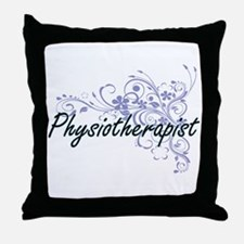 Physiotherapist Artistic Job Design w Throw Pillow