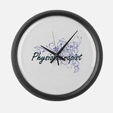 Physiotherapist Artistic Job Desi Large Wall Clock