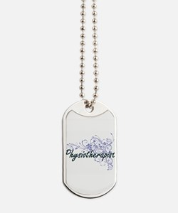 Physiotherapist Artistic Job Design with Dog Tags