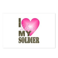 I love my soldier Postcards (Package of 8)