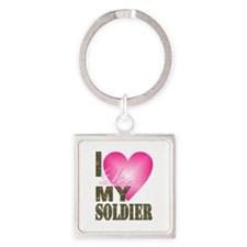 I love my soldier Keychains