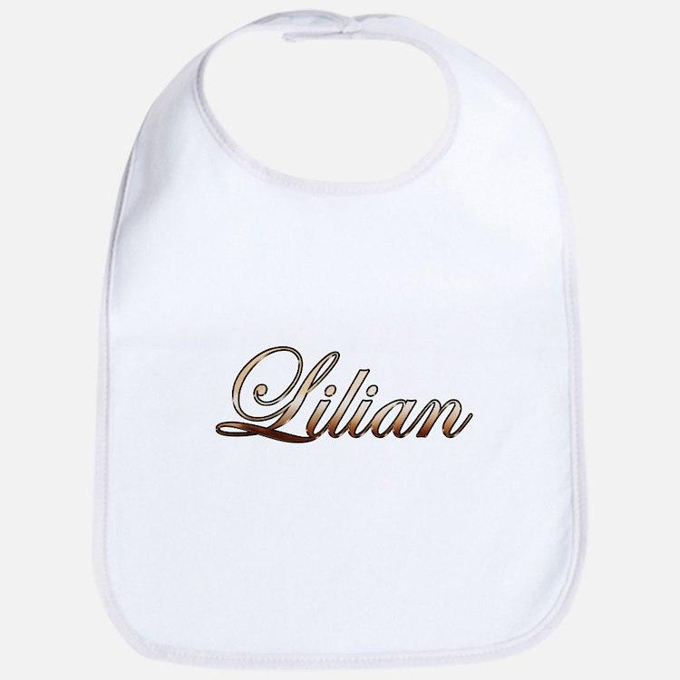 Gold Lilian Bib