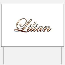 Gold Lilian Yard Sign