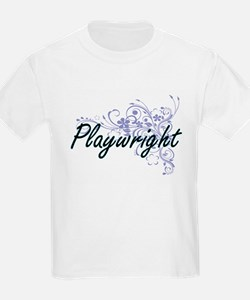 Playwright Artistic Job Design with Flower T-Shirt