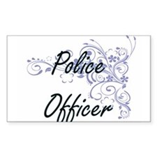 Police Officer Artistic Job Design with Fl Decal