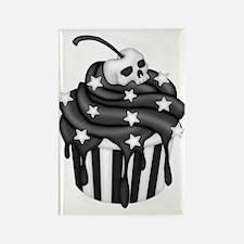 Cadaver Cupcake w/ Stripes, Skull & Stars Magnets