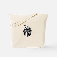 Cadaver Cupcake w/ Stripes, Skull & Stars Tote Bag