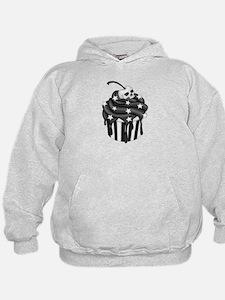 Cadaver Cupcake w/ Stripes, Skull & Stars Hoodie