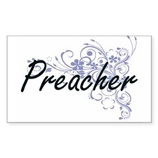 Preacher Artistic Job Design with Flowers Decal