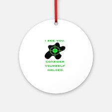 Halo copy.jpg Round Ornament