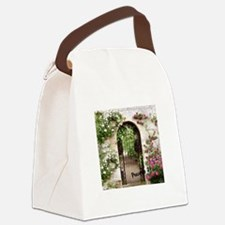 Proverbs 31 Woman at the City Gat Canvas Lunch Bag