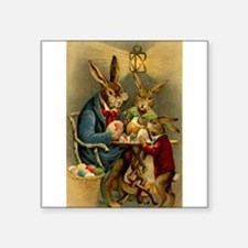 "Cute Easter Square Sticker 3"" x 3"""
