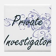 Private Investigator Artistic Job Des Tile Coaster