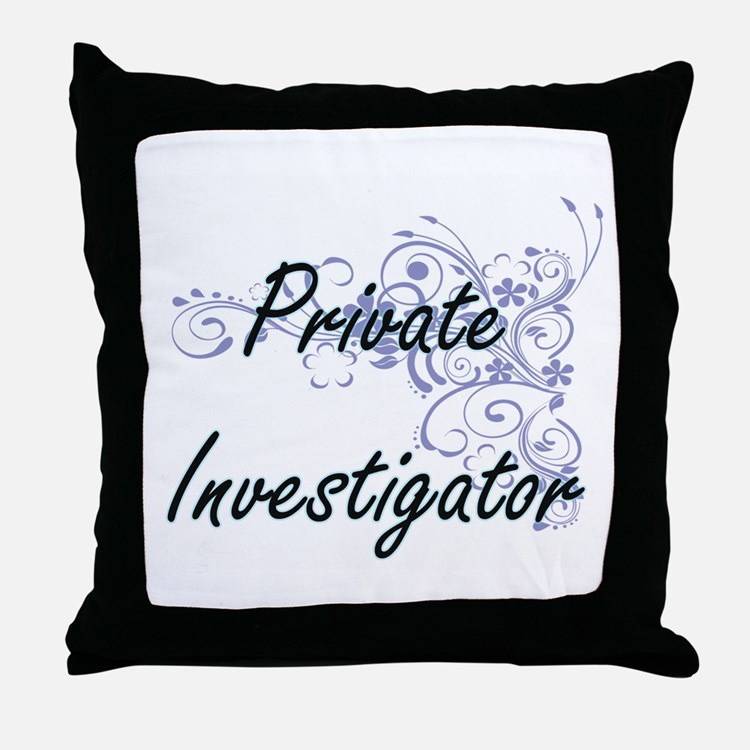 Private Investigator Pillows On Living Room Cafe Tucson
