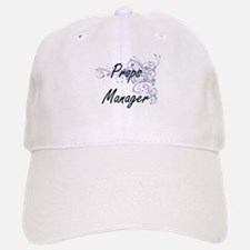 Props Manager Artistic Job Design with Flowers Baseball Baseball Cap