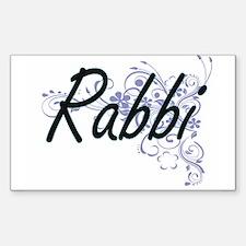 Rabbi Artistic Job Design with Flowers Decal