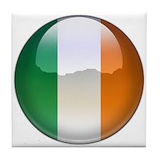 Ireland Flag Jewel Tile Coaster