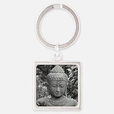BUDDHA IN GREY Square Keychain