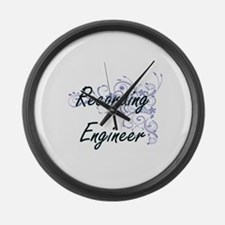 Recording Engineer Artistic Job D Large Wall Clock