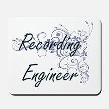 Recording Engineer Artistic Job Design w Mousepad