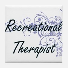 Recreational Therapist Artistic Job D Tile Coaster