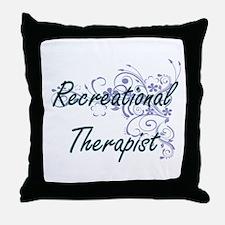 Recreational Therapist Artistic Job D Throw Pillow