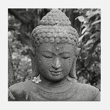 BUDDHA IN GREY Tile Coaster