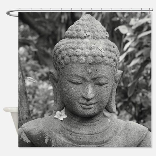 BUDDHA IN GREY Shower Curtain