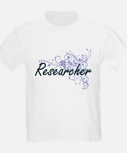 Researcher Artistic Job Design with Flower T-Shirt