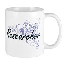 Researcher Artistic Job Design with Flowers Mugs