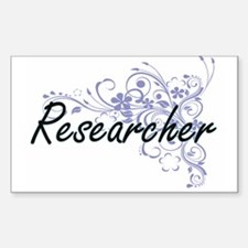 Researcher Artistic Job Design with Flower Decal