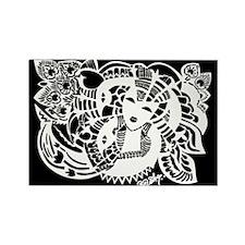 women's dark tshirt black Rectangle Magnet (10 pac