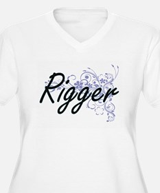 Rigger Artistic Job Design with Plus Size T-Shirt