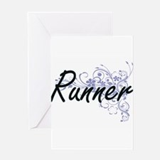 Runner Artistic Job Design with Flo Greeting Cards