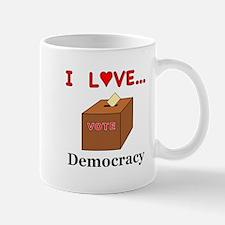 I Love Democracy Mug