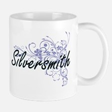Silversmith Artistic Job Design with Flowers Mugs