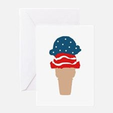 stars and stripes ice cream Greeting Cards