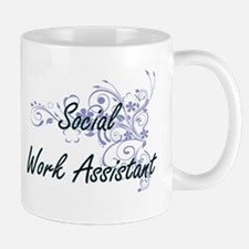 Social Work Assistant Artistic Job Design wit Mugs