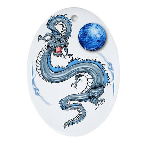 Dragon Oval Ornament