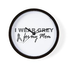 I Wear Grey For My Mom 2 (BC) Wall Clock