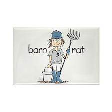 Barn Rat Rectangle Magnet (10 pack)