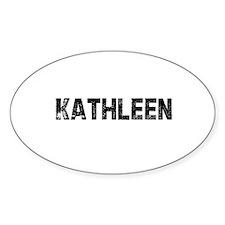 Kathleen Oval Decal